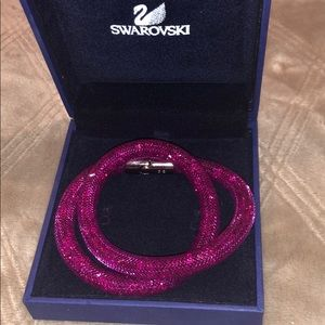 Swarovski Stardust Fuchsia Double Wrap Bracelet
